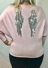 Load image into Gallery viewer, Limited Edition Angora Angels Batwing Jumper In Pink Made In Italy By Feathers Of Italy - Feathers Of Italy
