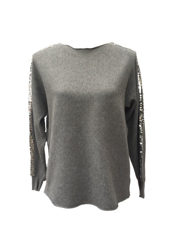 Sebastiano Seqined Jumper in Grey