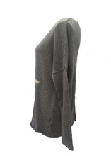 Load image into Gallery viewer, Star Knit Jumper In Grey - Feathers Of Italy