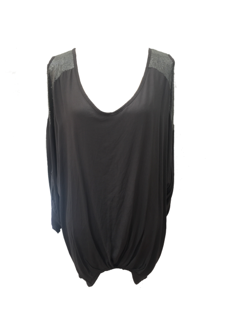 Abruzzo Sequin Top Soft in Charcoal