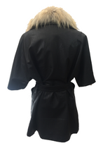 Load image into Gallery viewer, Positana Over Jacket in Black - Feathers Of Italy
