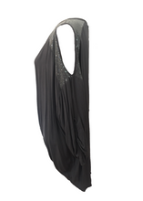 Load image into Gallery viewer, Abruzzo Sequin Top Soft in Charcoal - Feathers Of Italy
