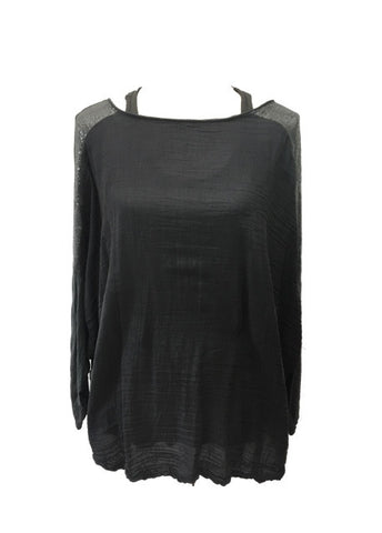 Boa Silk Top in Slate