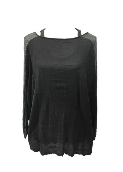 Boa Layer Seqin Top in Slate - Feathers Of Italy