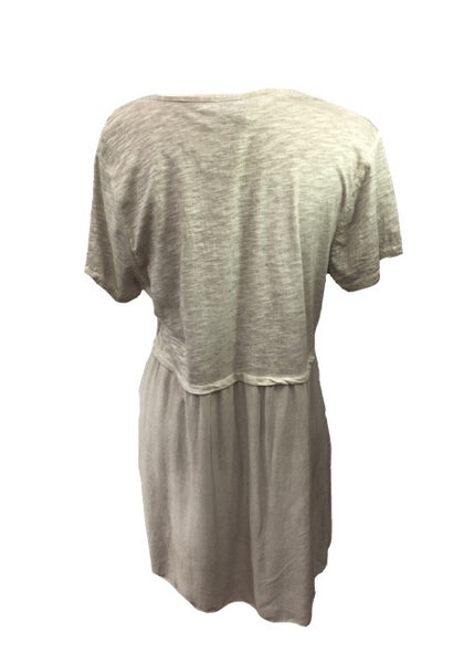 Washed Smock T Shirt and Cotton Top in Three Colours Made In Italy by Feathers Of Italy One Size
