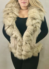 Load image into Gallery viewer, Luxury Fur Gilet in Cream by Feathers Of Italy - Feathers Of Italy
