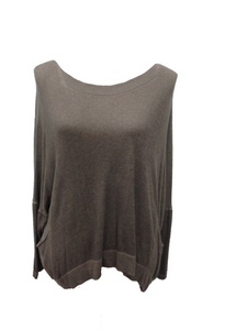 Florida Fine Knit Jumper in Mocha - Feathers Of Italy
