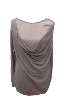 Load image into Gallery viewer, Cowl Bead Layer Jumper in Mocha - Feathers Of Italy