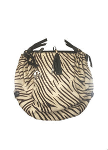 Zebra Print Shoulder bag - Feathers Of Italy