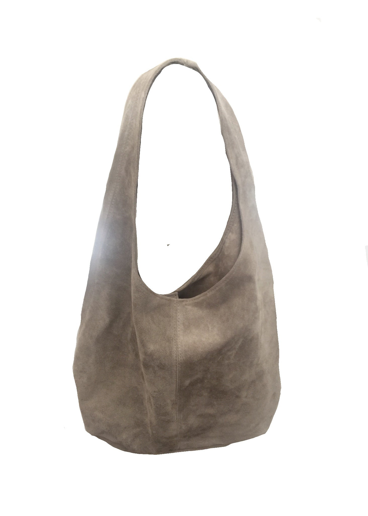 Alessandria Suede Bag In Mole - Feathers Of Italy