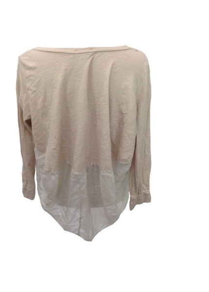 Pisa Silk and Jersey top in Dusky Pink