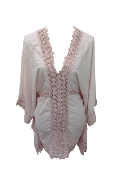 Sienna Lace Kimono in Pink