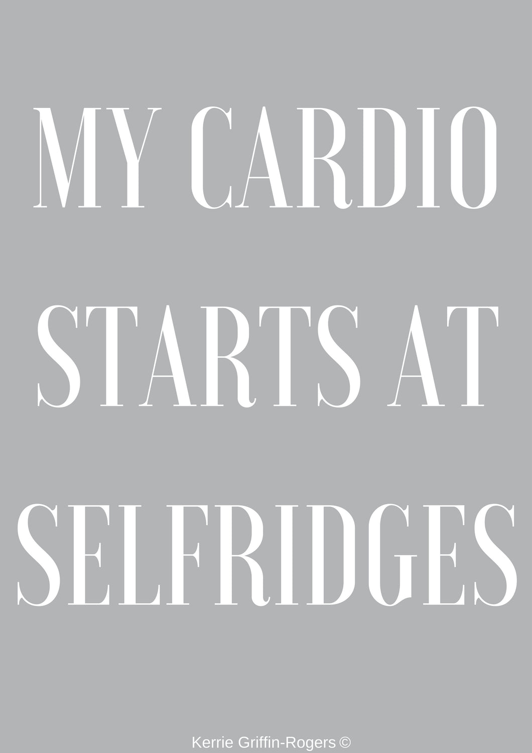 Framed Print - My Cardio Starts At Selfridges - Feathers Of Italy