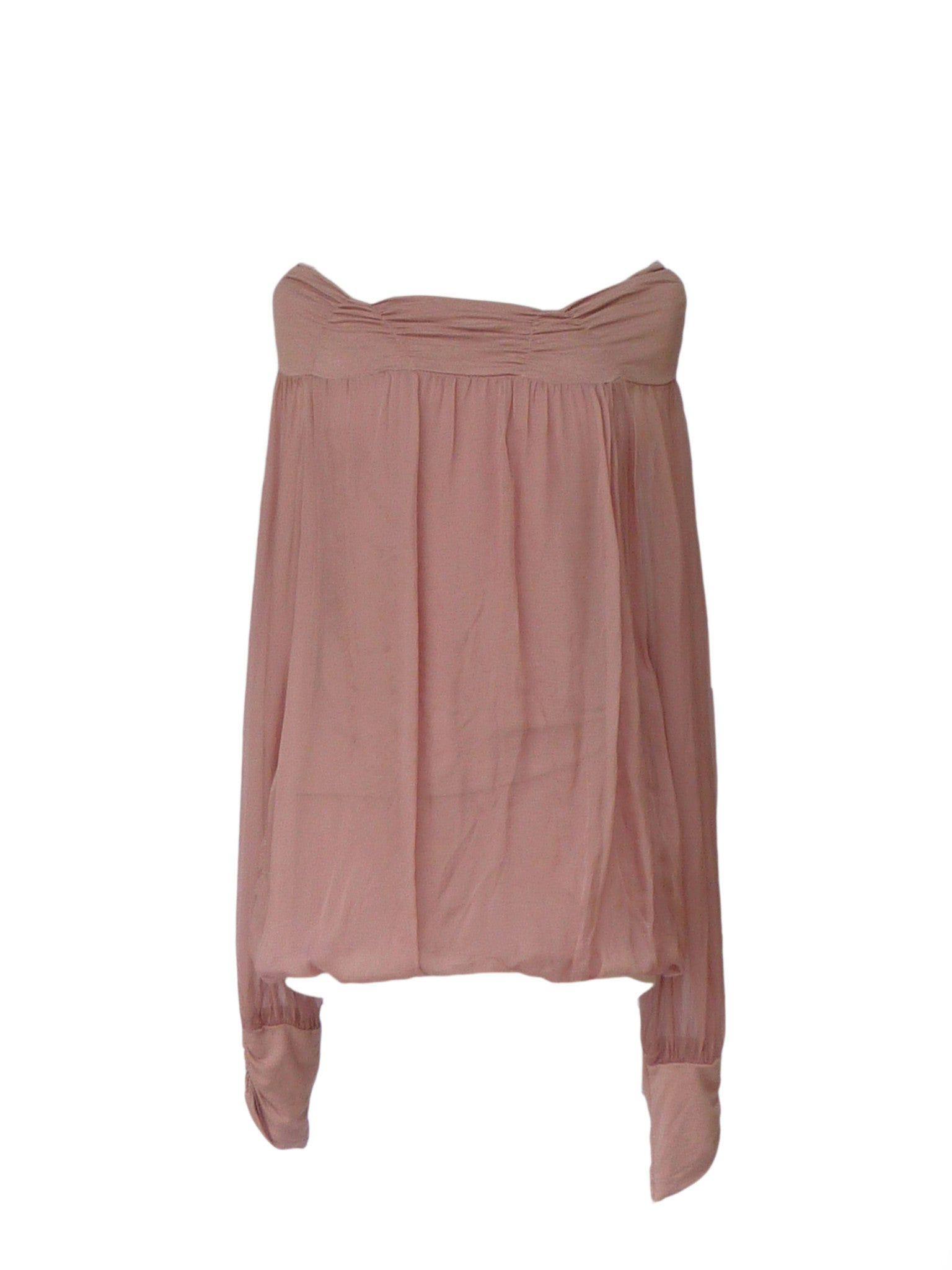 Luccia Silk Top in Dusky Pink - Feathers Of Italy