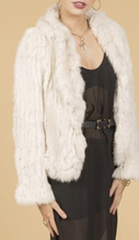 Load image into Gallery viewer, Snow White Fur Jacket - Feathers Of Italy