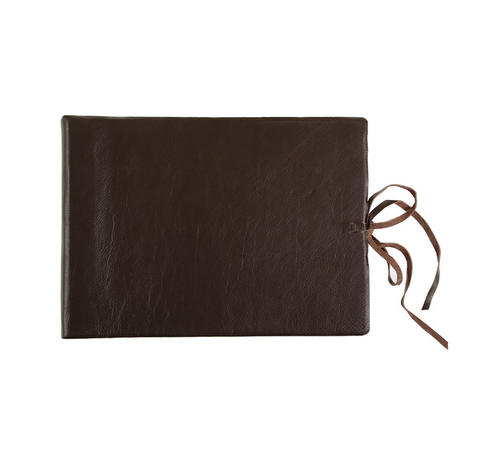 LARGE LEATHER ALBUM JOURNAL LARGE - Feathers Of Italy