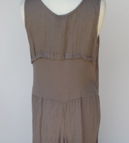 Long Linen Maxi Dress in Mocha - Feathers Of Italy