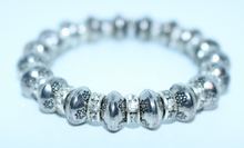 Load image into Gallery viewer, Limited Edition Silver Coloured Diamont'e Bracelet - By Feathers Of Italy - Feathers Of Italy
