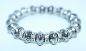 Limited Edition Silver Coloured Diamont'e Bracelet - By Feathers Of Italy - Feathers Of Italy