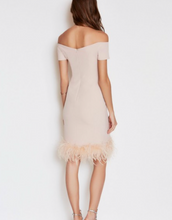 Load image into Gallery viewer, The LBD Margot Ostrich Feather Dress in Nude - LBD - Feathers Of Italy