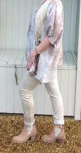 Amazing Florence Jeans in Stone - Feathers Of Italy