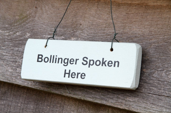 BOLLINGER SPOKEN HERE SIGN - Feathers Of Italy
