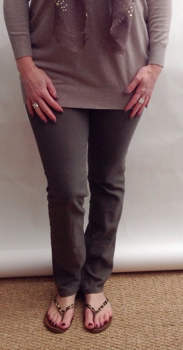 Amazing Florence Jeans in Brown - Feathers Of Italy