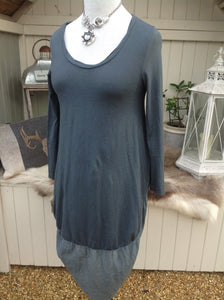 Cocoon Dress in Slate - Feathers Of Italy