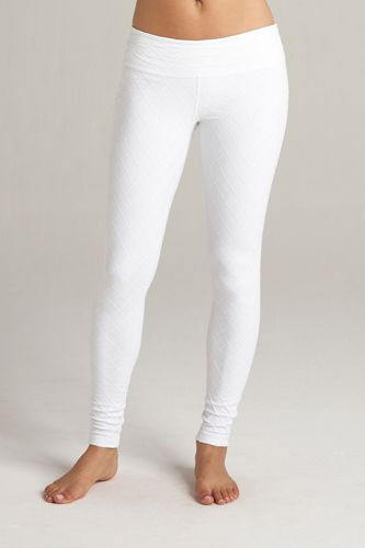 Cotton Basic Legging in White - Feathers Of Italy