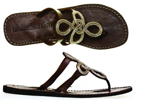 Edie flat leather sandal - Feathers Of Italy