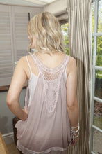 Load image into Gallery viewer, Freya Silk Top in Dusky Pink - Feathers Of Italy