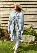 Load image into Gallery viewer, Multi-Wear Soft Drape Jersey Cotton Jacket/ Top in White Made In Italy by Feathers Of Italy One SIze - Feathers Of Italy