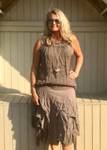 Load image into Gallery viewer, Cotton Waterfall Skirt in Mocha Made In Italy By Feathers Of Italy One Size - Feathers Of Italy