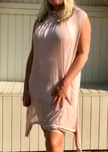 Load image into Gallery viewer, Pure Silk Halter Neck Sundress in Pink Made In Italy One Size - Feathers Of Italy