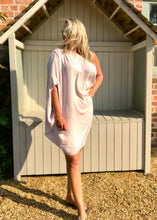 Load image into Gallery viewer, One Shoulder Dress Above Knee In Pink Made In Italy - Feathers Of Italy
