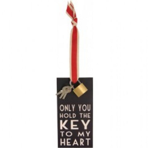 KEY TO MY HEART FOB - Feathers Of Italy