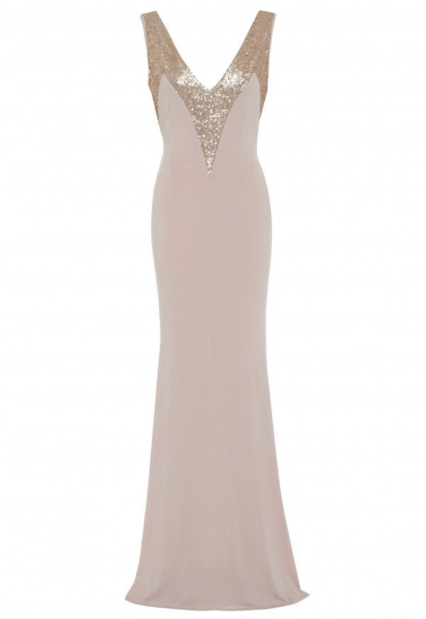 LBD Kristen Dress in Soft Blush Pink - Feathers Of Italy