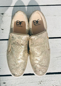 Canterville Pump Gold Snakeskin by Daniel Footwear Size 6 - Feathers Of Italy