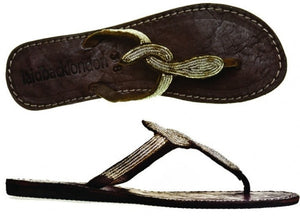 Lana Leather Sandal - Feathers Of Italy