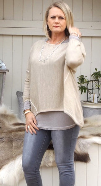 Lana Soft Knit in Vanilla - Feathers Of Italy