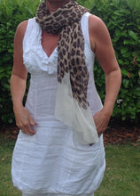 Load image into Gallery viewer, Leopard Print Scarf in Cream - Feathers Of Italy