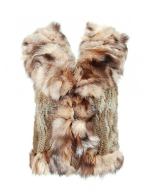 Luxury Fur Gilet in Natural - Feathers Of Italy