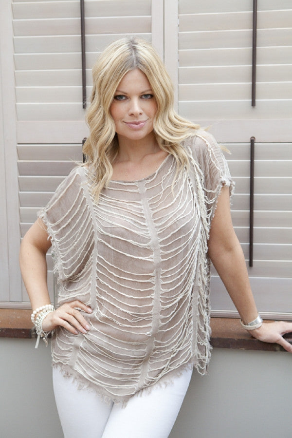 Milano Top by Kerrie Griffin-Rogers in Mocha - Feathers Of Italy