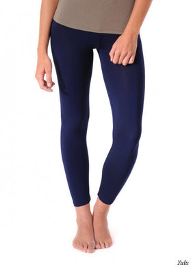 No Seam Leggings in Navy - Feathers Of Italy