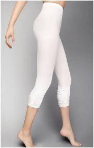 No Seam Leggings in White - Feathers Of Italy
