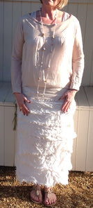 Raggi Silk Edged Skirt/Dress in Soft Pink - Feathers Of Italy
