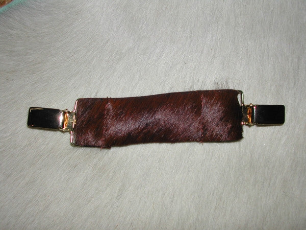 Ruchie Clip in Chocolate Hide - Feathers Of Italy