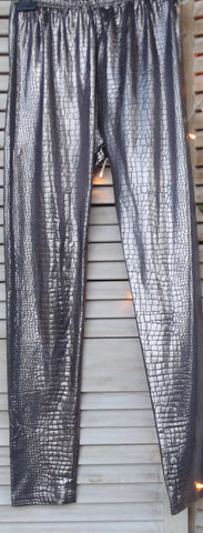 SILVER SNAKE LEGGINS - Feathers Of Italy