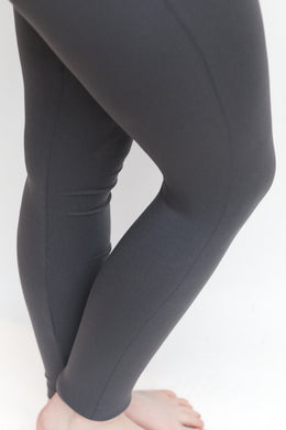 No Seam Leggings in Slate Grey - Feathers Of Italy
