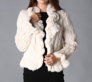 Snow White Fur Jacket - Feathers Of Italy